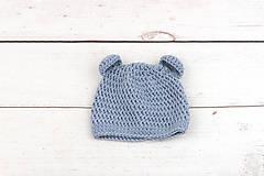 Detské súpravy - Modrá súprava macko zimná EXTRA FINE - 10526127_