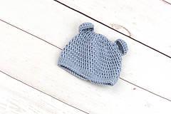 Detské súpravy - Modrá súprava macko zimná EXTRA FINE - 10526132_