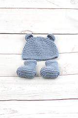 Detské súpravy - Modrá súprava macko zimná EXTRA FINE - 10526146_