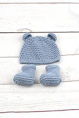 Detské súpravy - Modrá súprava macko zimná EXTRA FINE - 10526147_