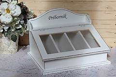 Nádoby - Príborník biely s patinou :) - 10526334_