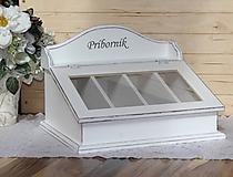 Nádoby - Príborník biely s patinou :) - 10526335_