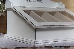 Nádoby - Príborník biely s patinou :) - 10526336_