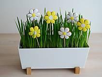 Dekorácie - Perníkové kvety - sada 8 ks - 10527972_