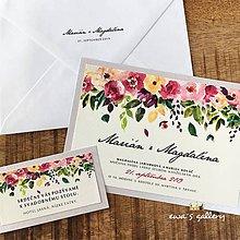Papiernictvo - Svadobné oznámenie ~Lúka~ - 10526073_