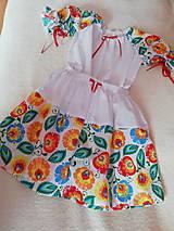 Detské oblečenie - Folk  detský komplet- šaty. - 10526410_