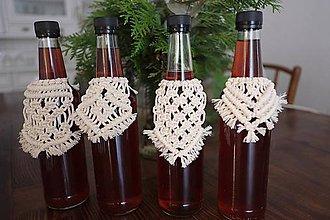Úžitkový textil - macramé na fľašu - 10527205_