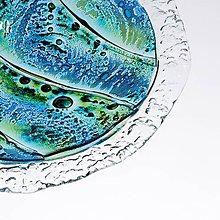 Nádoby - Okrúhla sklenená misa MADEIRA s čipkou - 10528499_