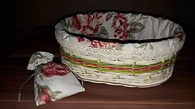 Košíky - Košík na chlieb s textilnou výplňou - 10527004_