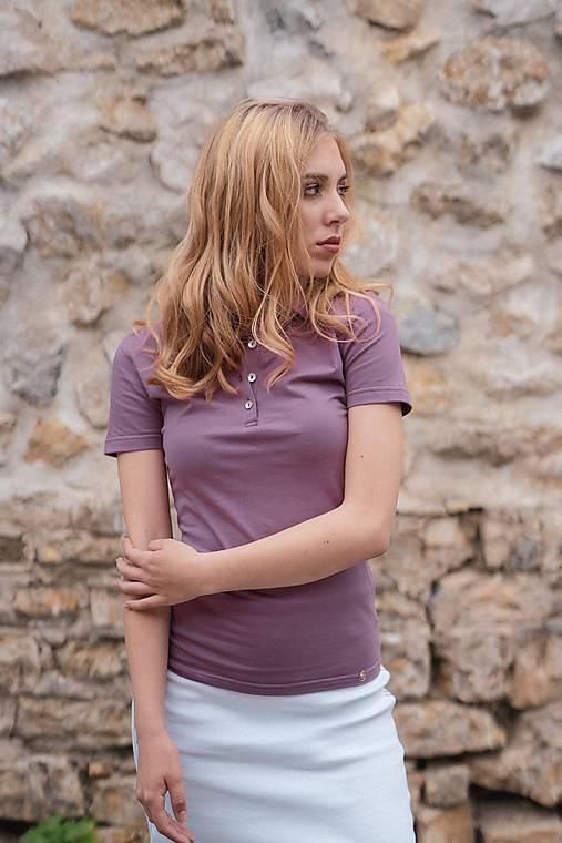 Dámske pólo tričko fialové