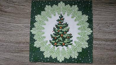 Papier - Servítka Vianočný stromček, 1 ks - 10526040_