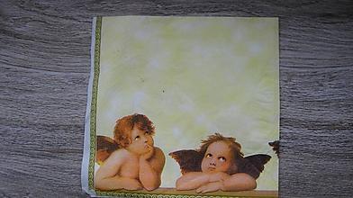 Papier - Servítka anjeli, 1 ks - 10526174_