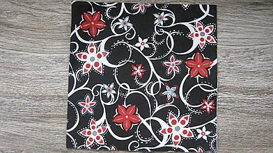 Papier - Servítka ornament, kvety, 1 ks - 10526595_
