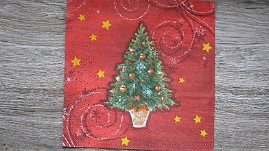Papier - Servítka vianočný stromček, 1 ks - 10526869_
