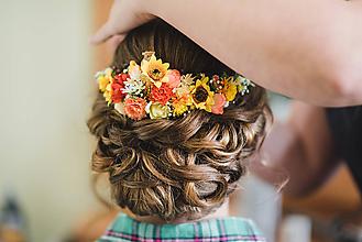 Nezaradené - Svadobný venček do vlasov - 10526047_