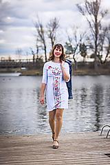 Tehotenské oblečenie - Puzdrové šaty na dojčenie 1 - 10526443_