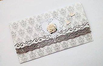 Papiernictvo - svadobná obálka na peniaze - 10526936_