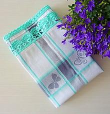 Úžitkový textil - Motýliková mentolová - 10528343_