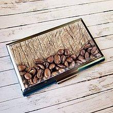 Iné doplnky - púzdro na vizitky Kávové zrnká - 10525404_
