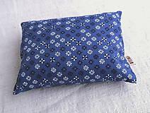 Úžitkový textil - FILKI šupkový ohrievací vankúšik 25 x 15 cm (modrý s drobným vzorom) - 10525228_