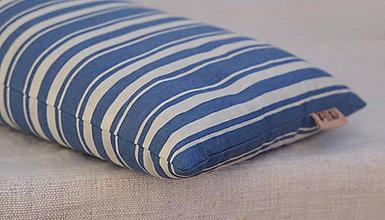 Úžitkový textil - Šupkový FILKI vankúš 40 cm (modro-biele pruhy) - 10525221_