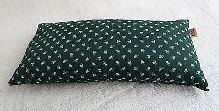 Úžitkový textil - Šupkový FILKI vankúš 40 cm (zelený folklórny) - 10525225_