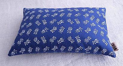 Úžitkový textil - FILKI šupkový ohrievací vankúšik 25 x 15 cm (modrý vzor 179) - 10525227_