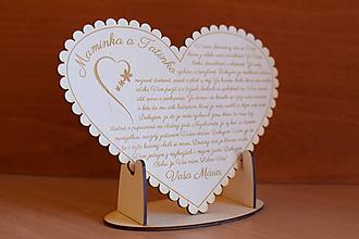 Darčeky pre svadobčanov - Poďakovanie Rodičom srdce 50 - 10527135_