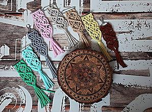 Kľúčenky - Makramé prívesok/ozdoba - 10525976_