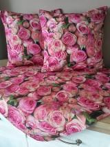Úžitkový textil - Kvetinová sada (Obliečky s ružami 40×40 cm) - 10532290_