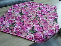 Úžitkový textil - Kvetinová sada (Obliečky s ružami 40×40 cm) - 10532294_