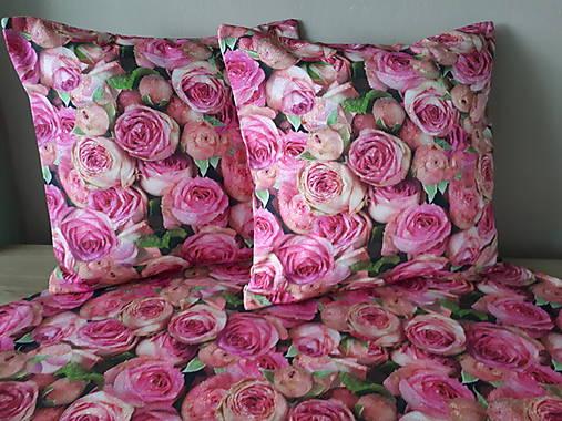 Kvetinová sada (Obliečky s ružami 40×40 cm)