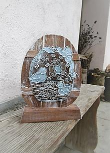 Dekorácie - Veľkonočné vajíčko na podstavčeku - 10531848_