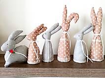 Dekorácie - Zajačiky šité - 10529873_