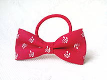 Ozdoby do vlasov - Red folklore hair bow - 10532565_