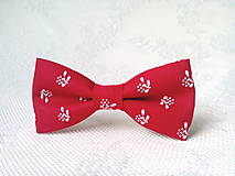 Ozdoby do vlasov - Red folklore hair clip - 10532576_