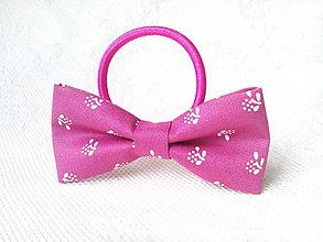 Ozdoby do vlasov - Fuchsia folklore hair bow - 10532569_
