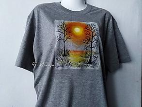 Tričká - tričko ručne maľované - Zimné slnko... - 10530828_
