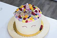 Dekorácie - Zápich na tortu s menom Nelinka - 10529168_