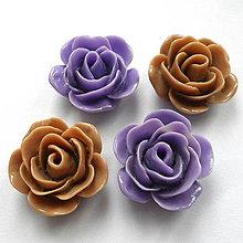 Korálky - Kvet plast/kabošon 22x11mm-1ks - 10529829_