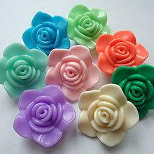 Korálky - Kvet plast 33x14mm-1ks - 10529831_