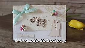 Papiernictvo - Blahoželanie / gratulácia k svadbe  - 10531448_