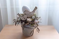 """Dekorácie - Jarná dekorácia """"Vtáčia láska"""" - 10531935_"""