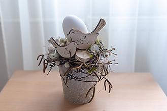 """Dekorácie - Jarná dekorácia """"Vtáčia láska"""" - zľava! - 10531935_"""