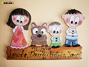 Tabuľky - Menovka - rodinka - 10532425_