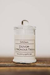 Svietidlá a sviečky - Sviečka zo sójového vosku v skle - Zázvor&Citrónová Tráva - 10531698_