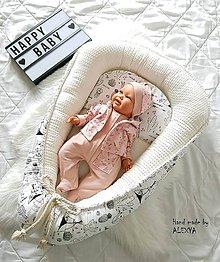 Textil - Hniezdo pre bábätko z vafle v smotanovej farbe - 10531603_