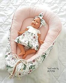 Textil - Hniezdo pre bábätko z vafle bavlny v baby ružovej - 10531664_