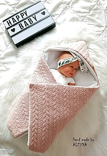 Textil - Zateplená vafle deka so strieškou exclusive - 10531709_