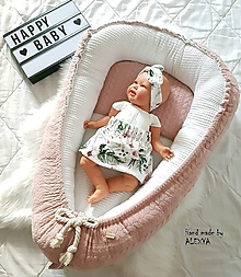 Textil - Hniezdo pre bábätko z vafle bavlny exclusive - 10531761_